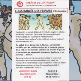 L'ASSEMBLÉE DES FEMMES, d'Aristophane