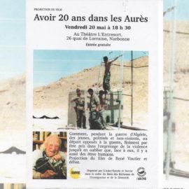 AVOIR VINGT ANS DANS LES AURÈS, film de René Vauthier